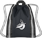 Reflective Polyester Drawstring Bags